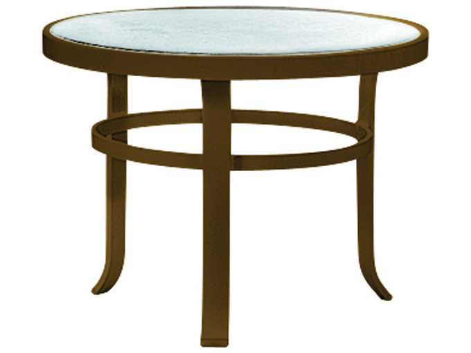 Tropitone Cast Aluminum 24 Round Obscure End Table 4283g