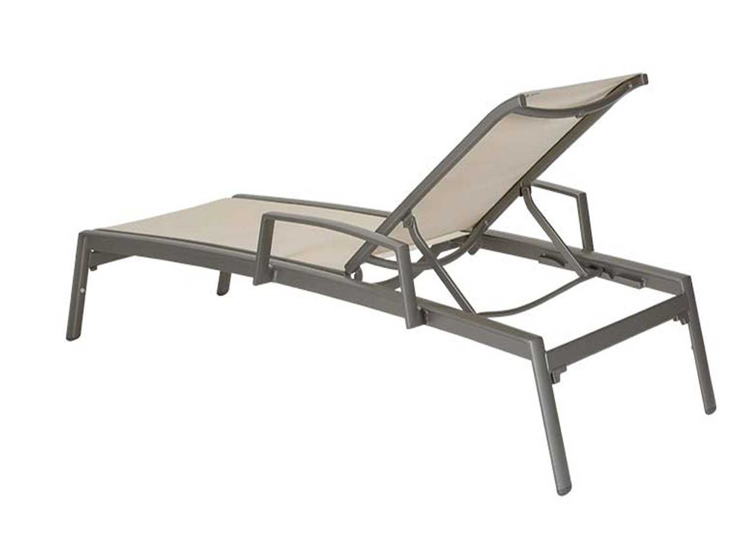 Tropitone elance relaxed sling aluminum chaise lounge with for Aluminium chaise lounge