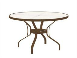 Tropitone Cast Aluminum 48 Round Clear Top Dining Table