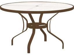 Tropitone Cast Aluminum 48 Round Obscure Top Dining Table