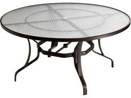 Tropitone Cast Aluminum 54 Round Dining Table with Umbrella Hole