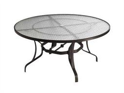 Tropitone Aluminum 54 Round Dining Table with Umbrella Hole