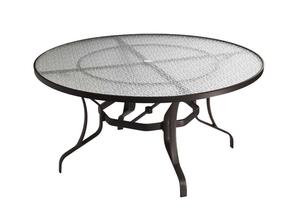 Tropitone aluminum 54 round dining table with umbrella - Aluminium picnic table with umbrella ...