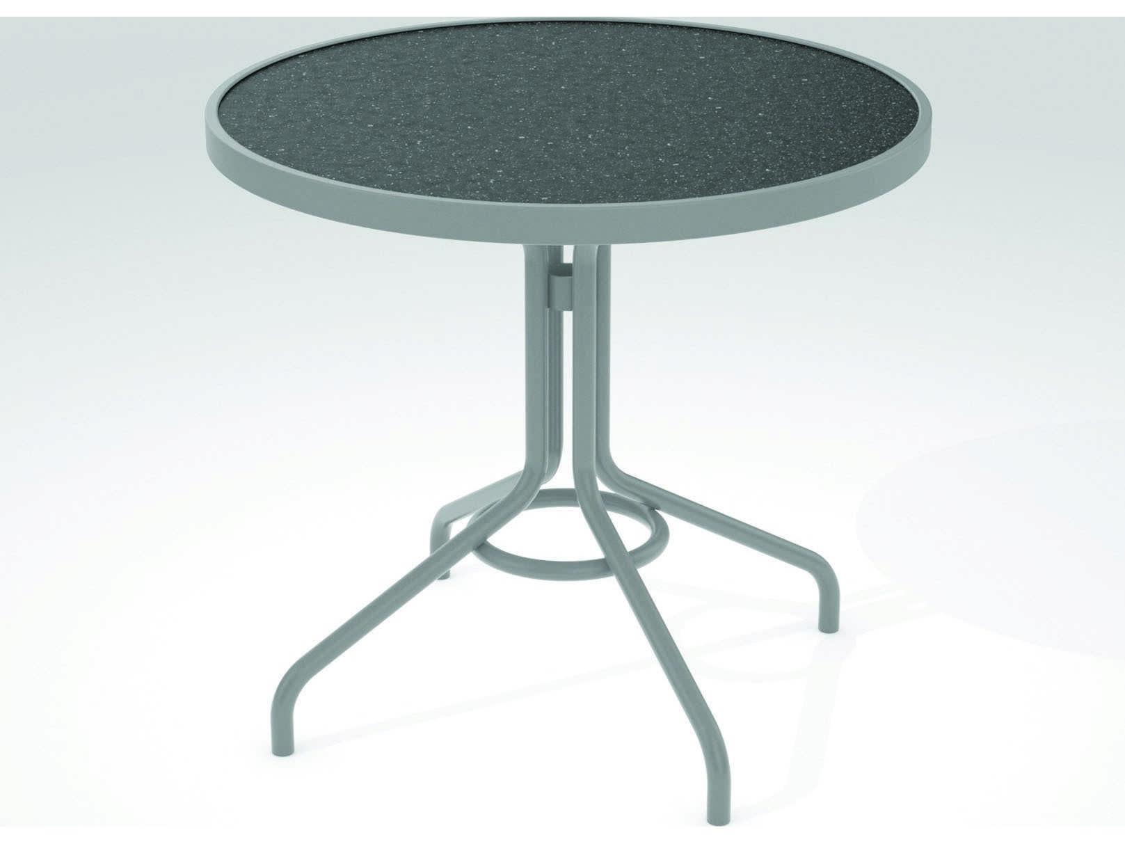 Tropitone Hpl Raduno Aluminum 30 Round Dining Table 656h
