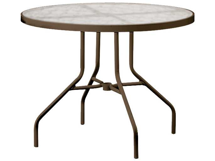 tropitone cast aluminum 36 round dining table 670a