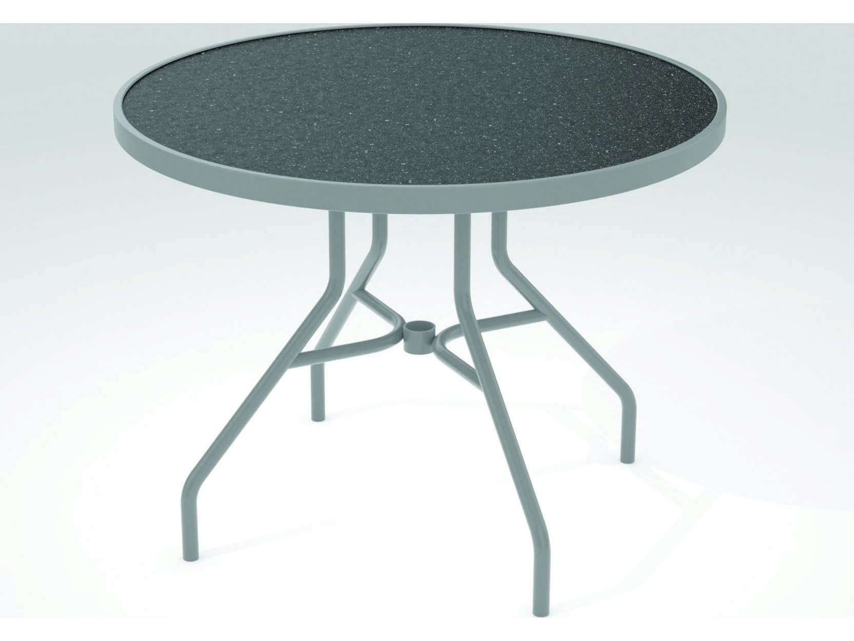Tropitone hpl raduno aluminum 36 round dining table 670h for 36 round dining table
