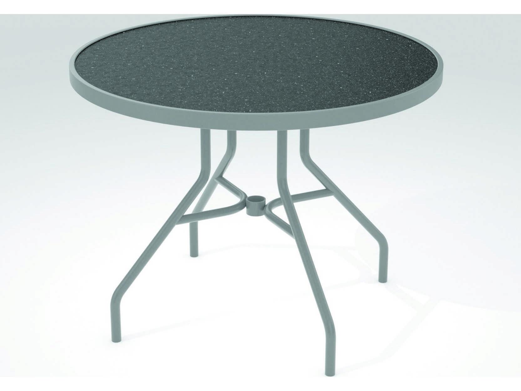 Tropitone Hpl Raduno Aluminum 36 Round Dining Table 670h