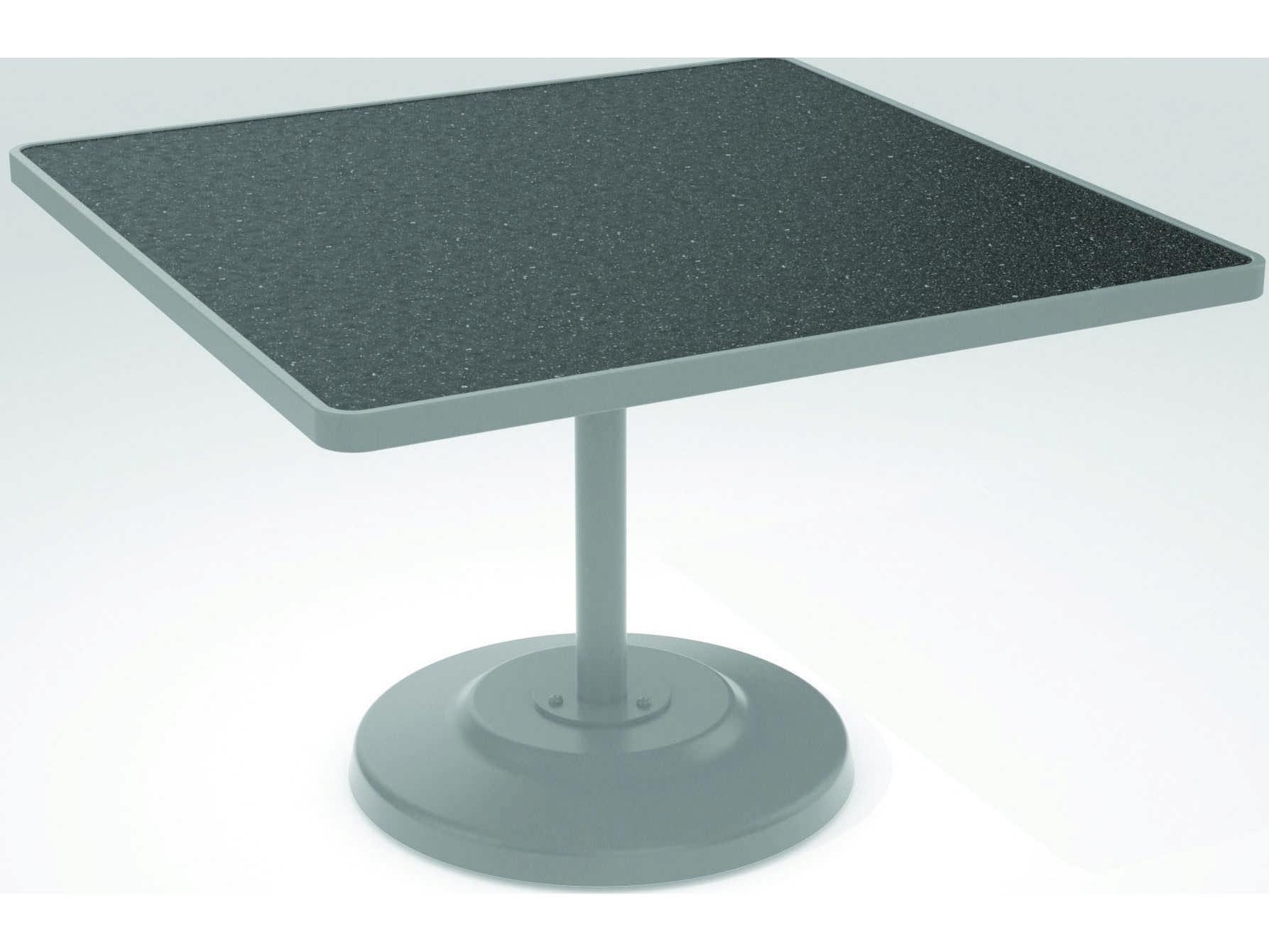 Tropitone Hpl Raduno Aluminum 42 Square Kd Pedestal Table 701443h