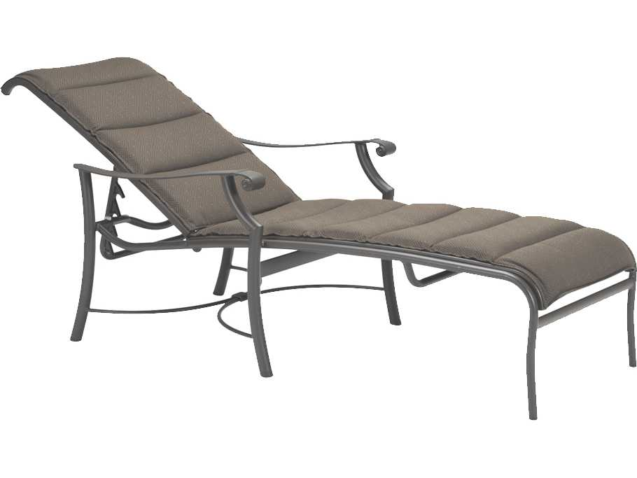 Tropitone Montreux Padded Sling Aluminum Chaise Lounge