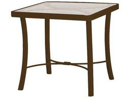 Tropitone Cast Aluminum 24 Square Obscure Top End Table