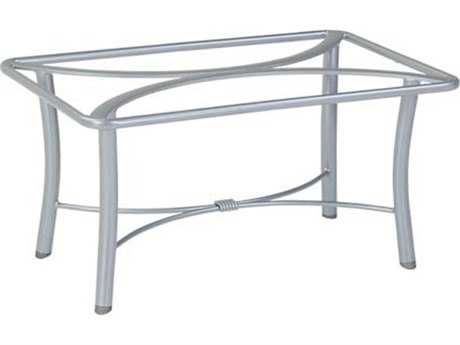 Tropitone Bases Cast Aluminum Rectangular Coffee Table Base Only 18h 720239swb