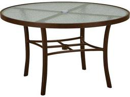 Tropitone Cast Aluminum 42 Round Obscure Top Chat Table with Umbrella Hole