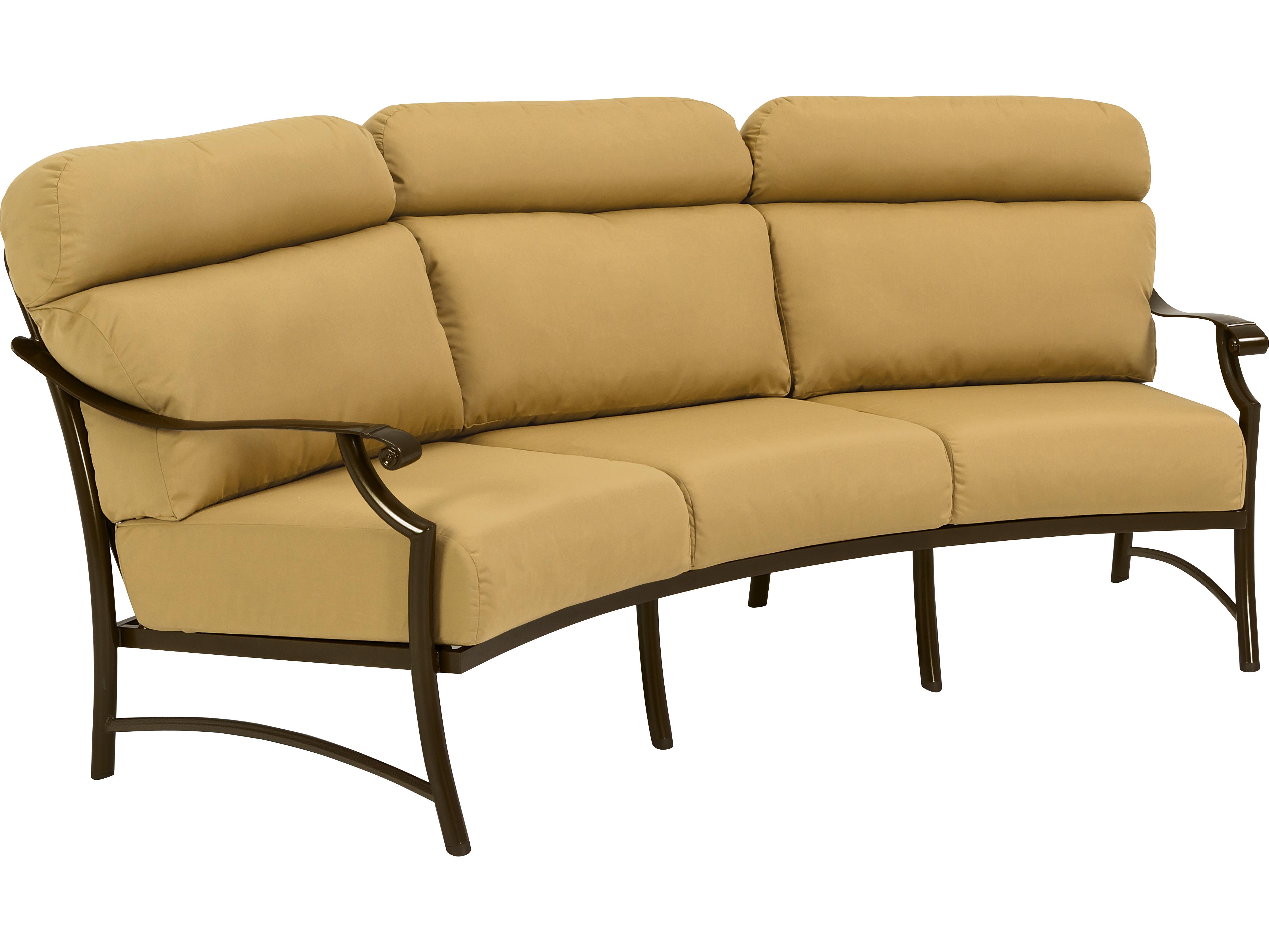 Tropitone Montreux Cushion Aluminum Crescent Sofa