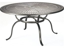 Kd Spectrum Cast Aluminum 49 Round Dining Table With Umbrella Hole By  Tropitone