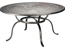 Tropitone Kd Spectrum Cast Aluminum 55 Round Dining Table with Umbrella Hole