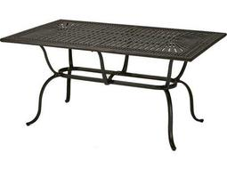 Tropitone Kd Spectrum Cast Aluminum 70 x 43 Rectangular Dining Table with Umbrella Hole