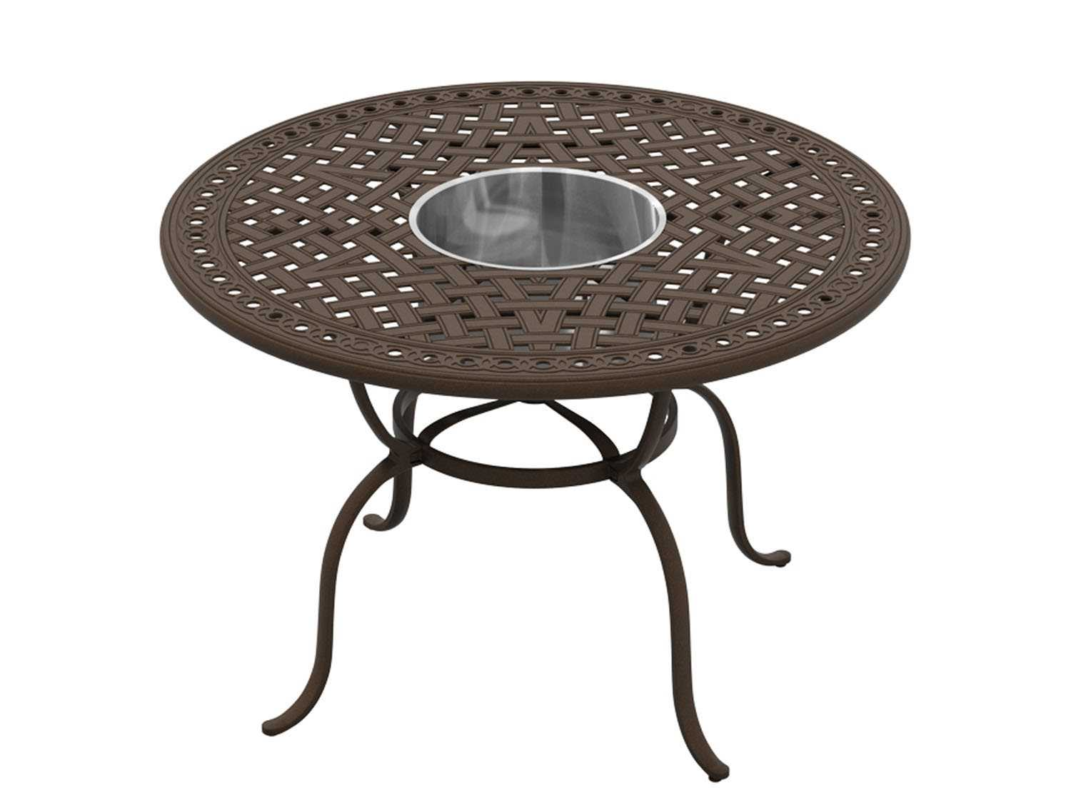 garden terrace counter height beverage bucket fire pit table fire pits ...