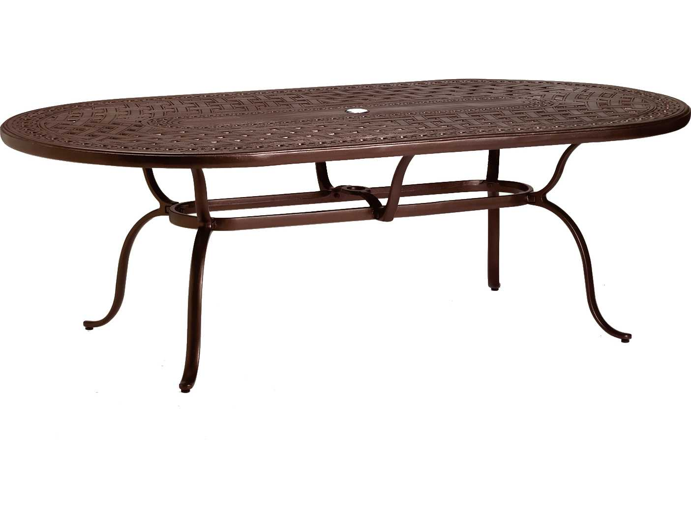 Tropitone kd garden terrace cast aluminum 85 x 43 oval for 85 dining table
