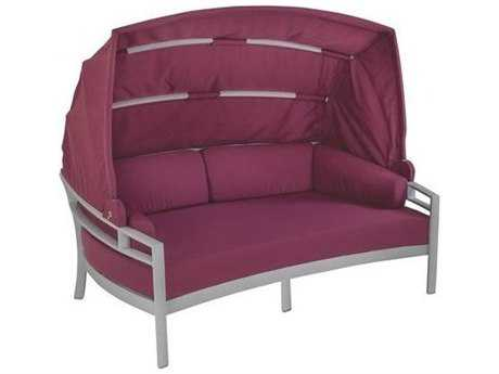 Tropitone Kor Cushion Aluminum Lounger with Shade