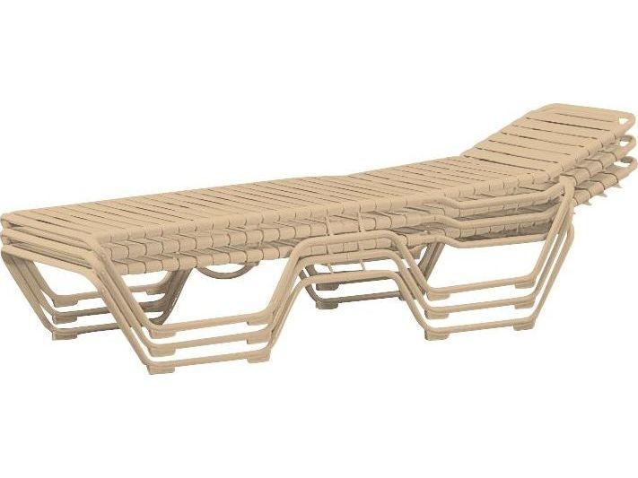 Tropitone tropi kai strap aluminum adjustable chaise 935z for Aluminum strap chaise lounge