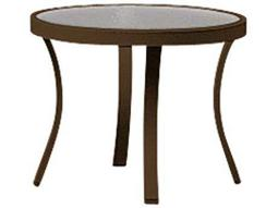 Tropitone Cast Aluminum 20 Round Obscure Curved Legs Coffee Table