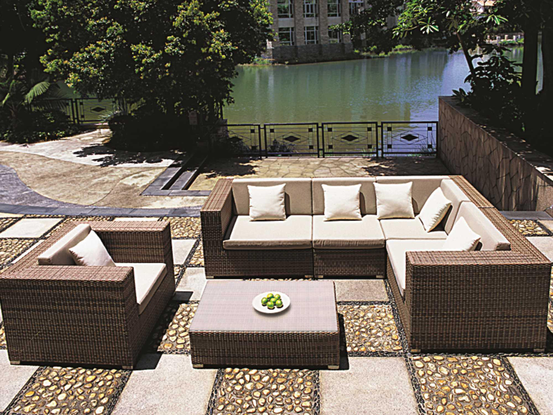 Tropitone Arzo Woven Cushion Sectional Set ARZOSECSET - Tropitone outdoor furniture