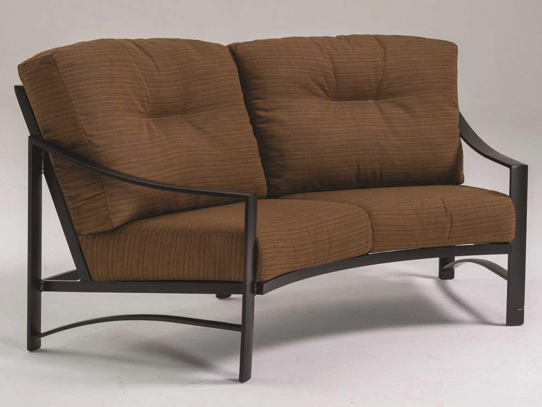 tropitone kenzo replacement crescent loveseat sofa l r cushion c391410cl. Black Bedroom Furniture Sets. Home Design Ideas