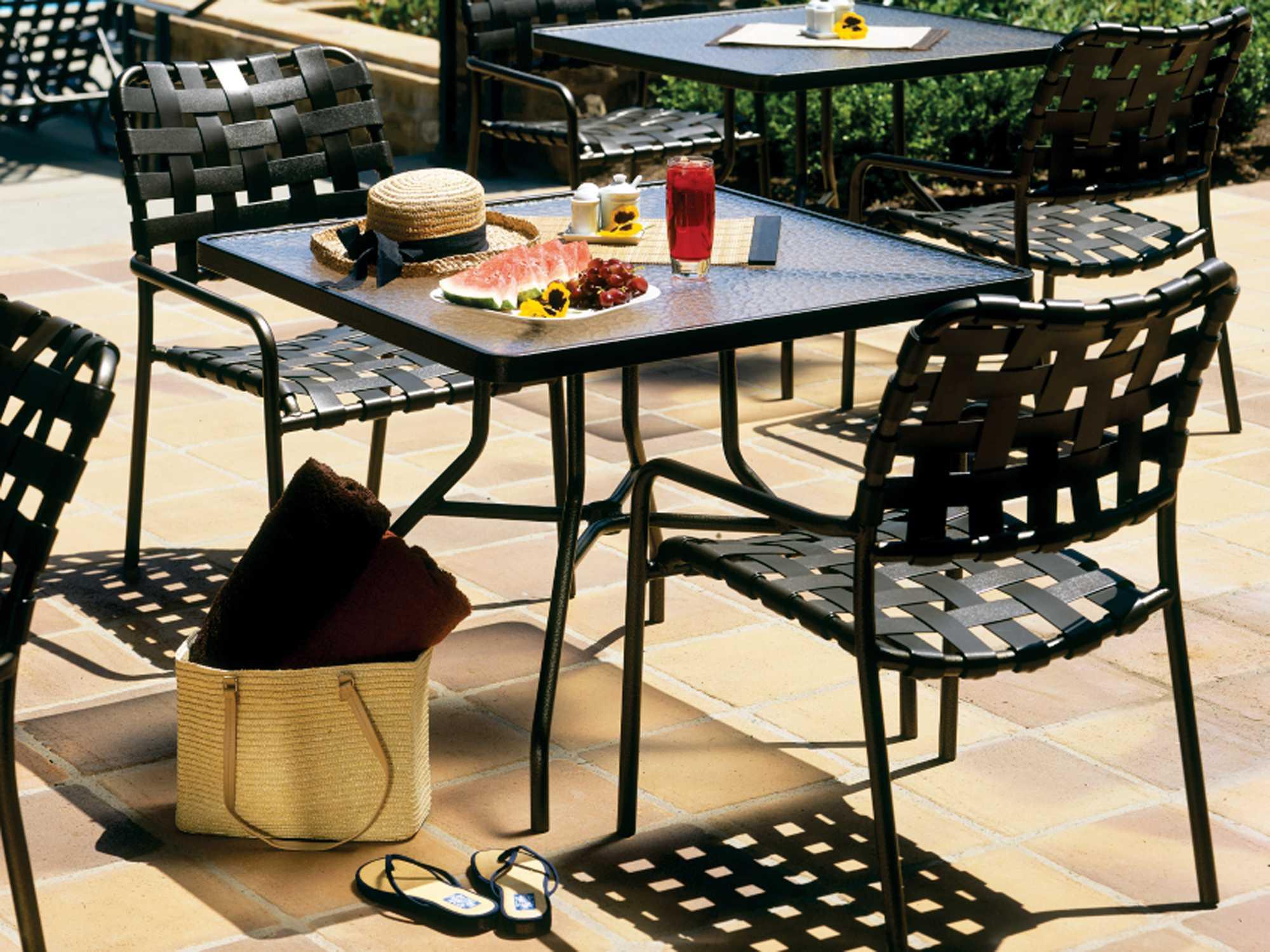 Tropitone Kahana Cross Strap Aluminum Stackable Dining Chair - Tropitone outdoor furniture