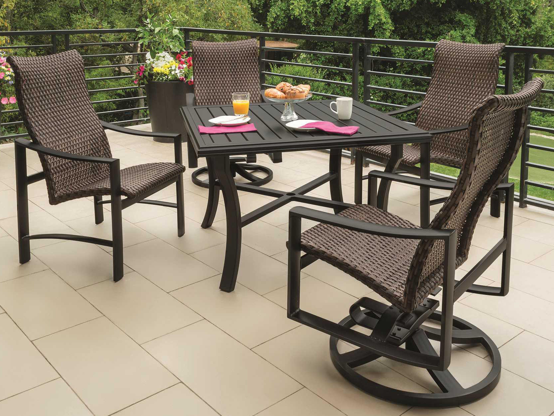 Tropitone Kenzo Woven Dining Set KENZOWDINSET - Tropitone outdoor furniture