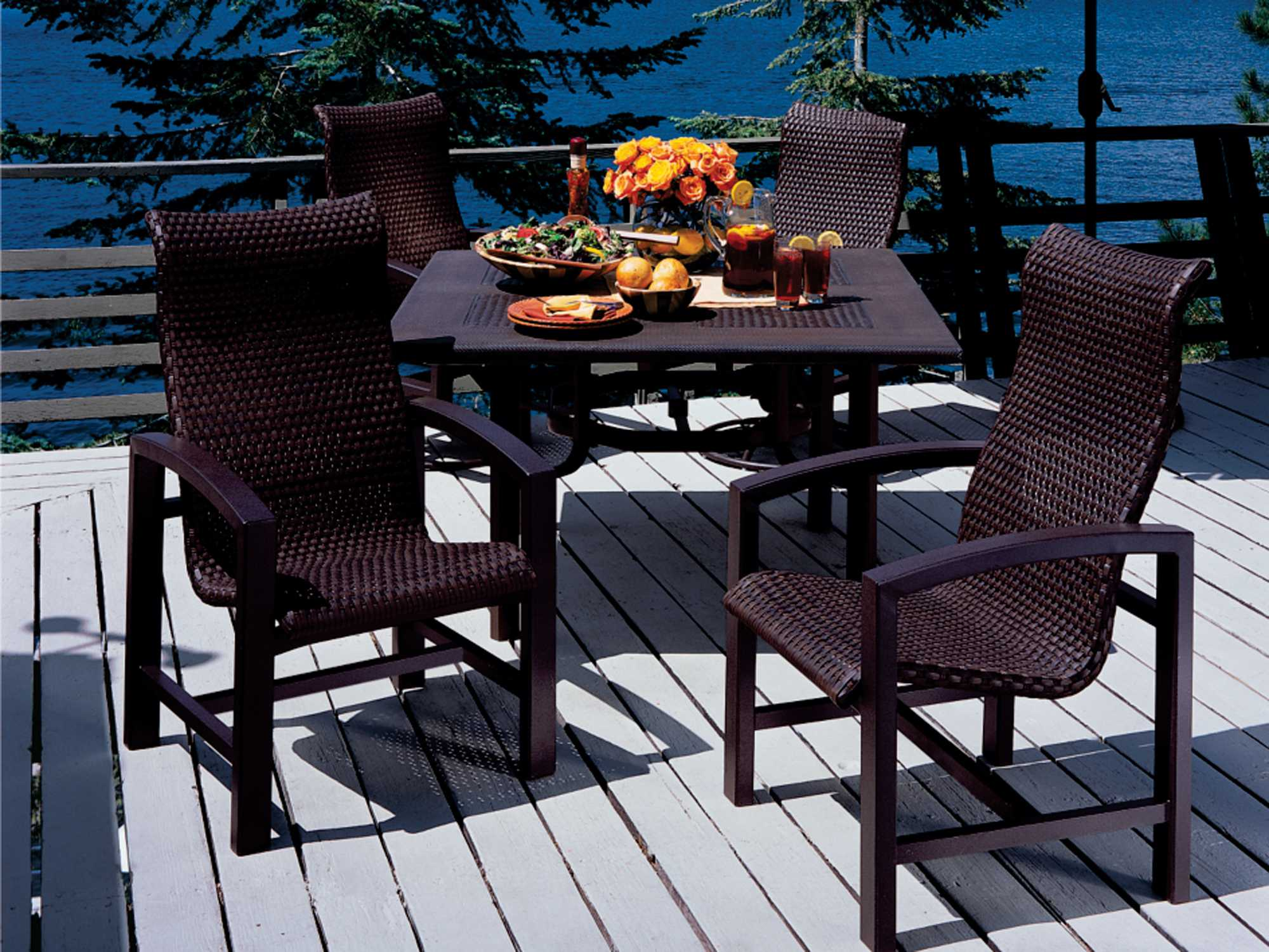 Tropitone Lakeside Woven Dining Chair WS - Tropitone outdoor furniture