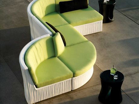 Tropitone Mobilis Recycled Plastic 5 Person Cushion Sectional Patio Lounge Set