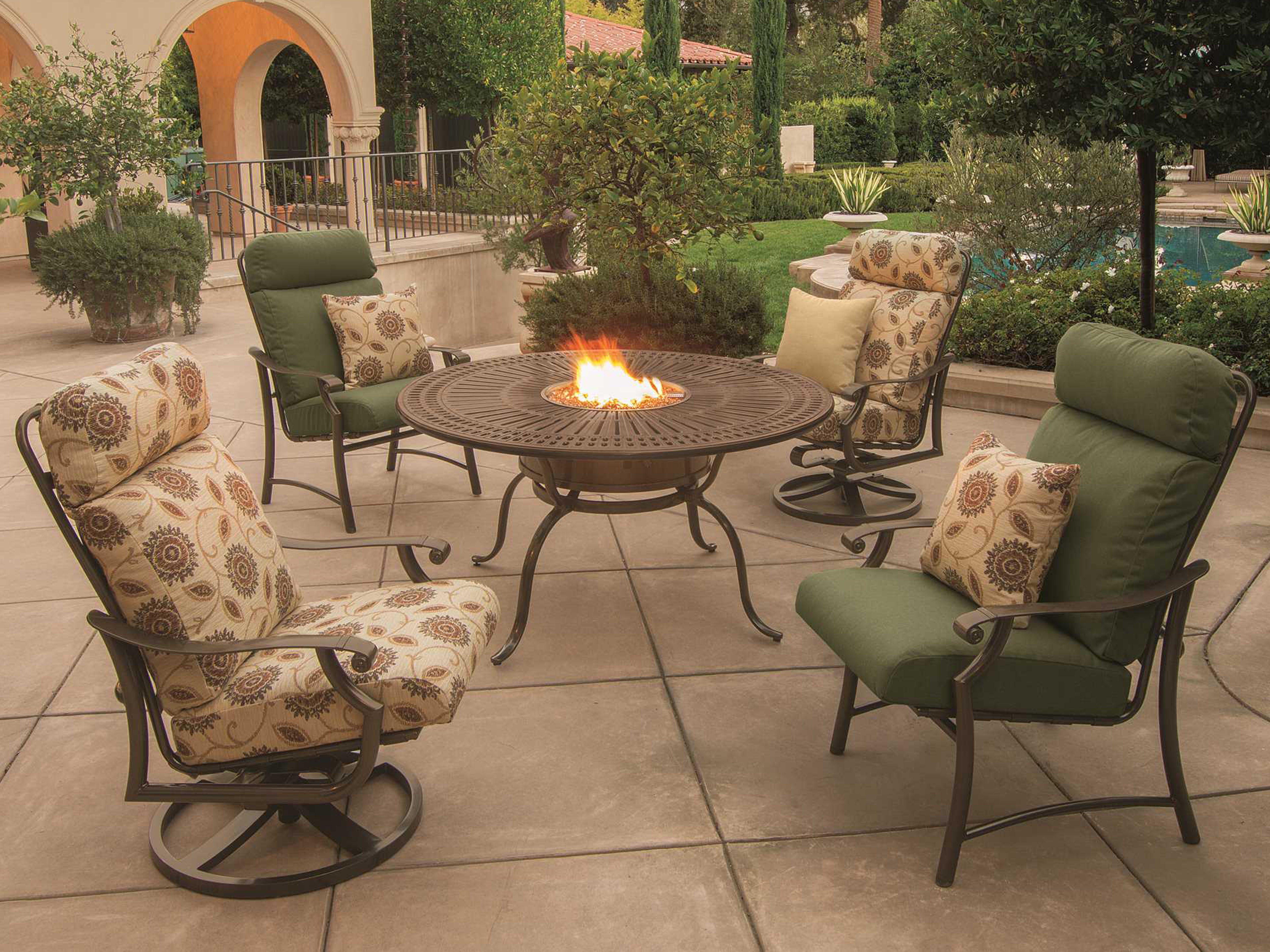 Save Big On Rugs Fire Pits More: Tropitone Spectrum Aluminum 55 Round Fire Pit Table