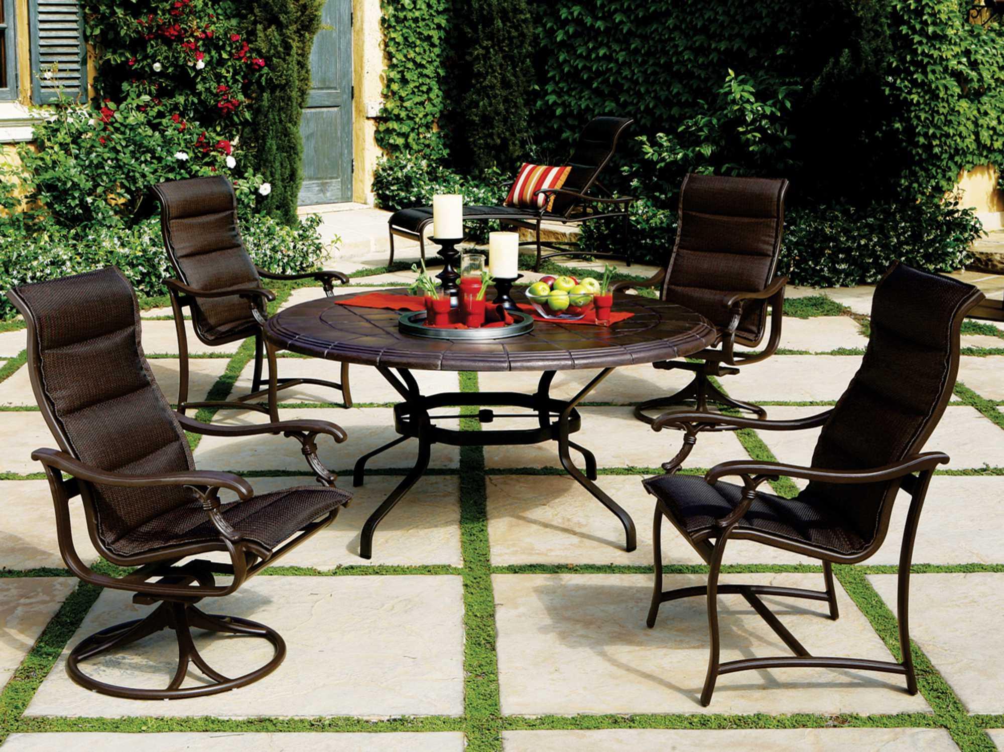 Tropitone Stoneworks Sabia  Round Table Top SAR - Tropitone outdoor furniture