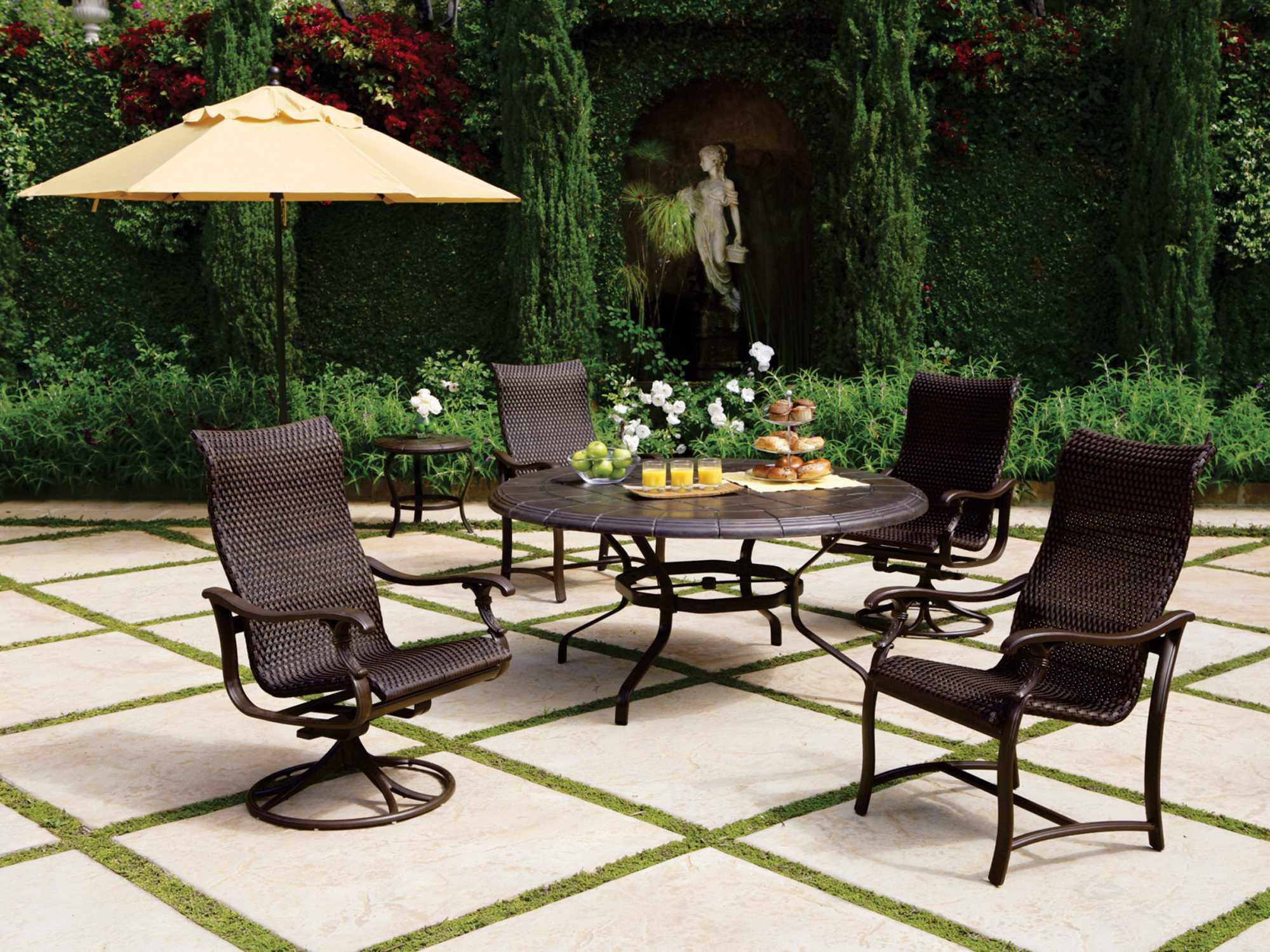 Tropitone Ravello Woven Swivel Rocker Dining Chair WS - Tropitone outdoor furniture