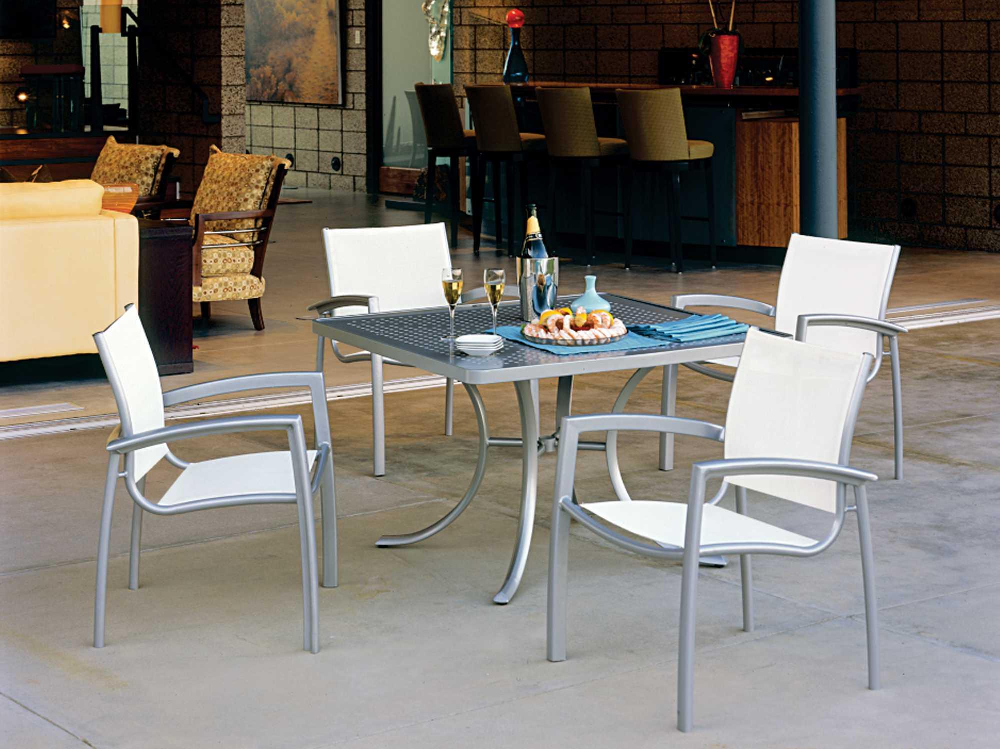 Tropitone Veer Sling Cast Aluminum Dining Chair - Tropitone outdoor furniture