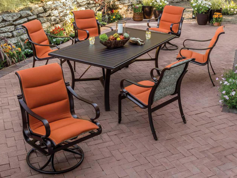 Tropitone Banchetto Aluminum  X  Rectangular Metal Dining - Tropitone outdoor furniture