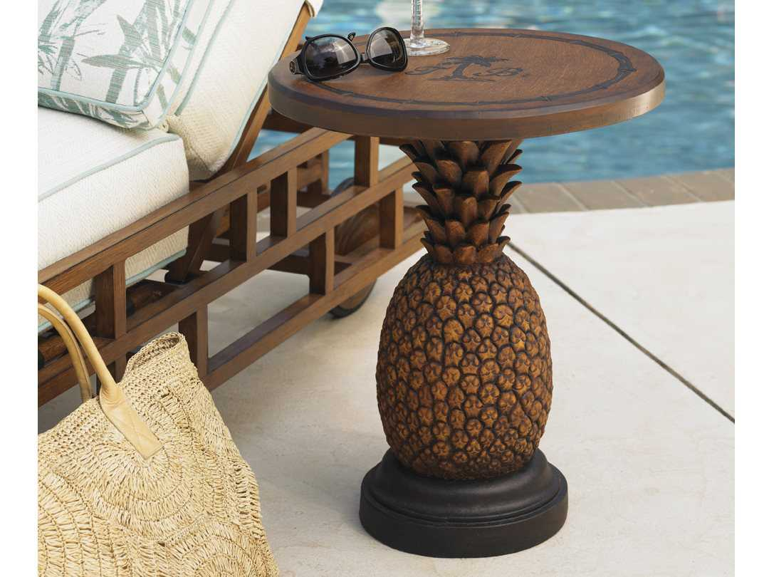 Tommy Bahama Outdoor Alfresco Living Aluminum Pineapple Table