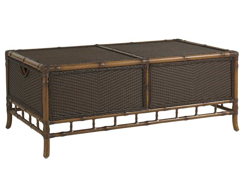 Tommy Bahama Outdoor Island Estate Veranda Aluminum 49 39 39 X 29 39 39 Rectangular Trunk Cocktail Table