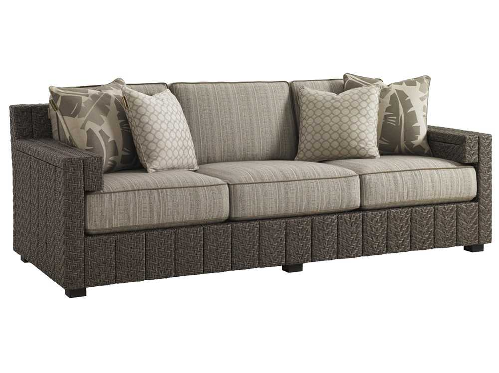 Tommy Bahama Outdoor Blue Olive Wicker Sofa 3230 33