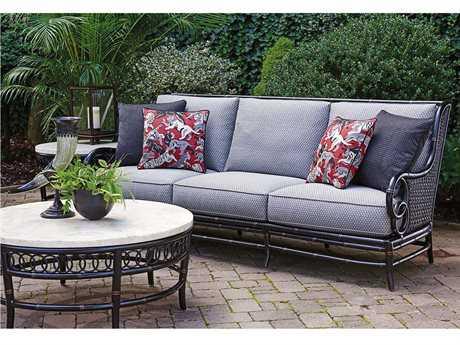 Tommy Bahama Marimba Wicker 3 Person Cushion Conversation Patio Lounge Set