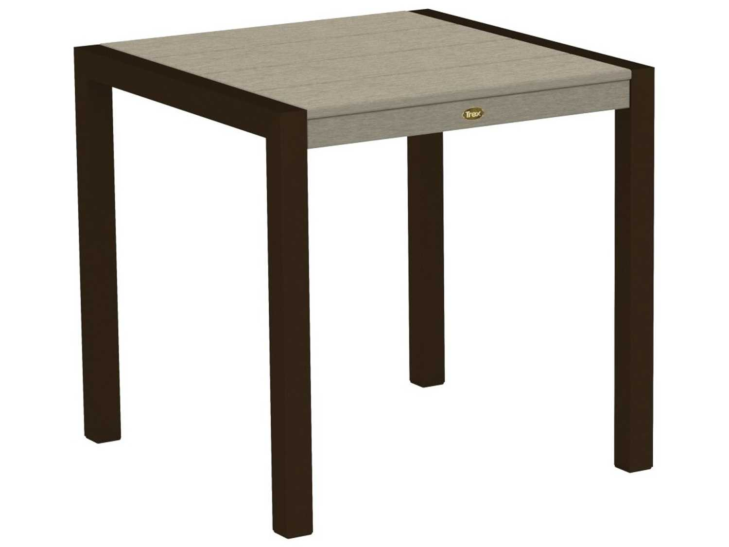 trex surf city recycled plastic 30 square dining table