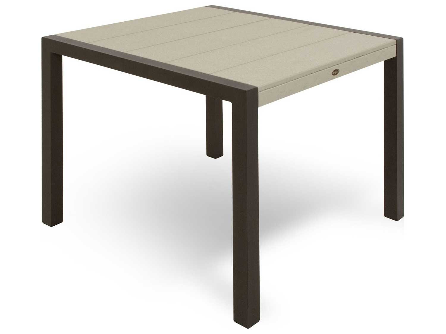 trex surf city recycled plastic 36 square dining table