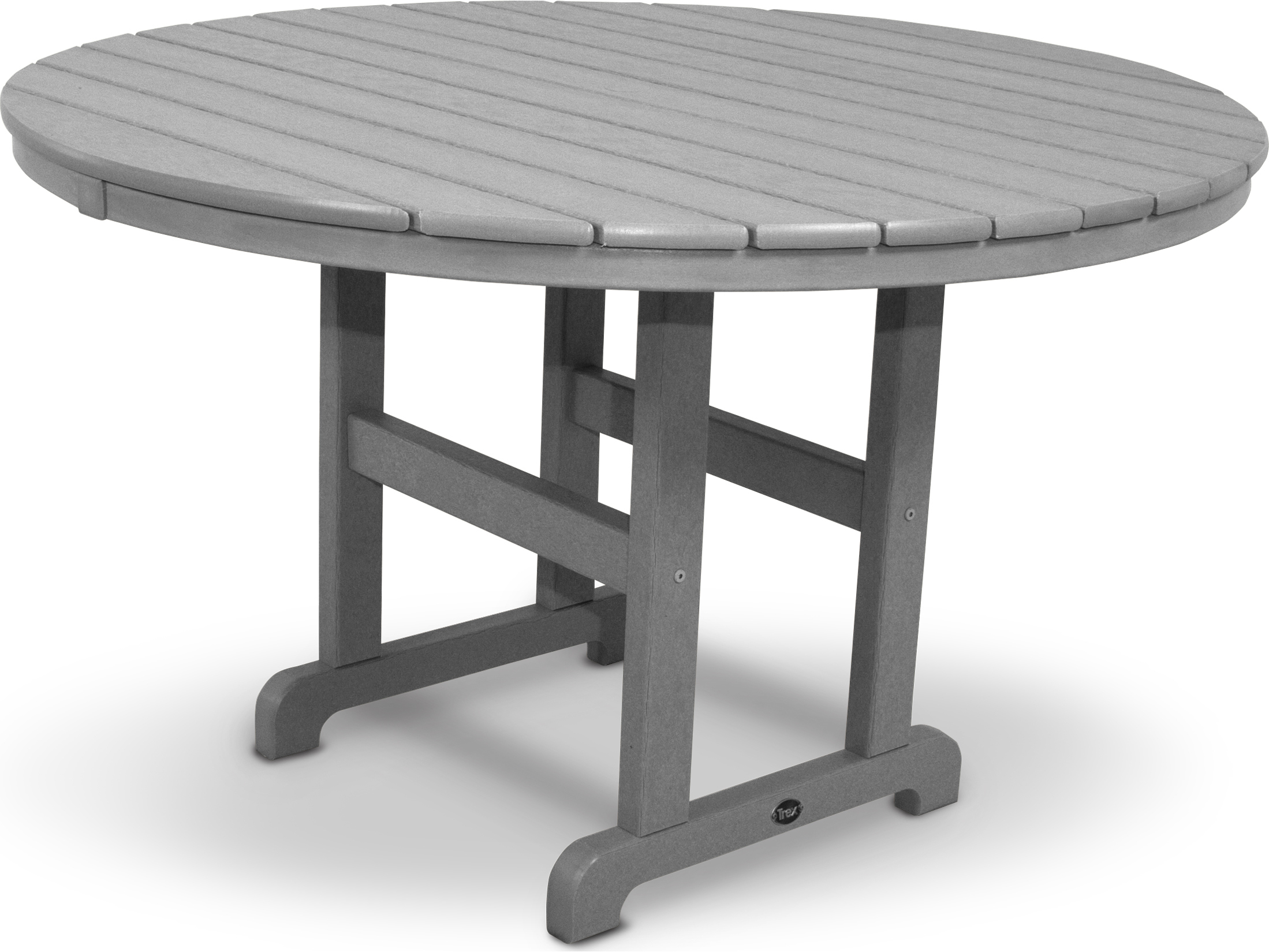 trex monterey bay recycled plastic 48 round dining table