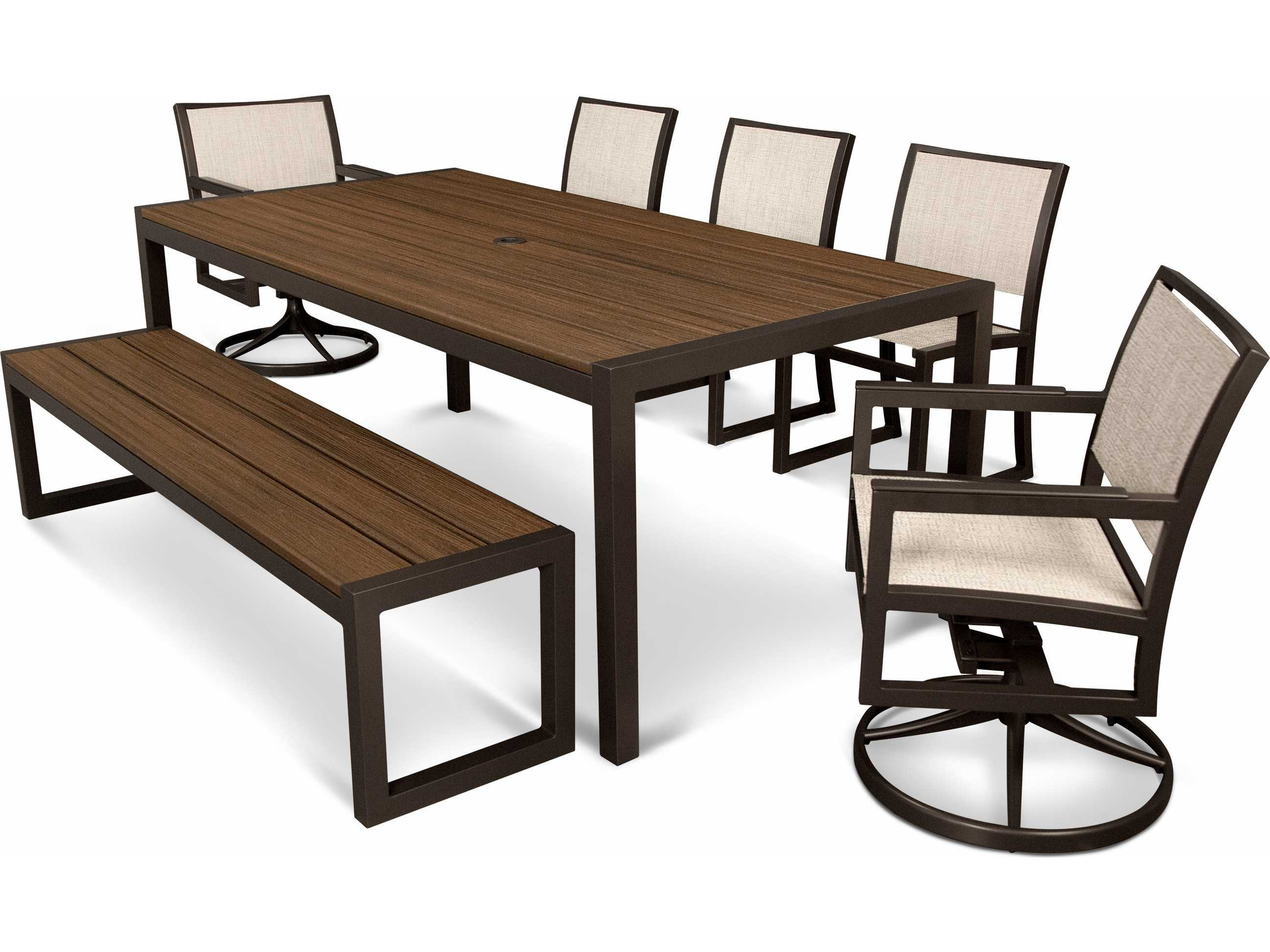Trex Parsons Recycled Plastic 7 pc Dining Set