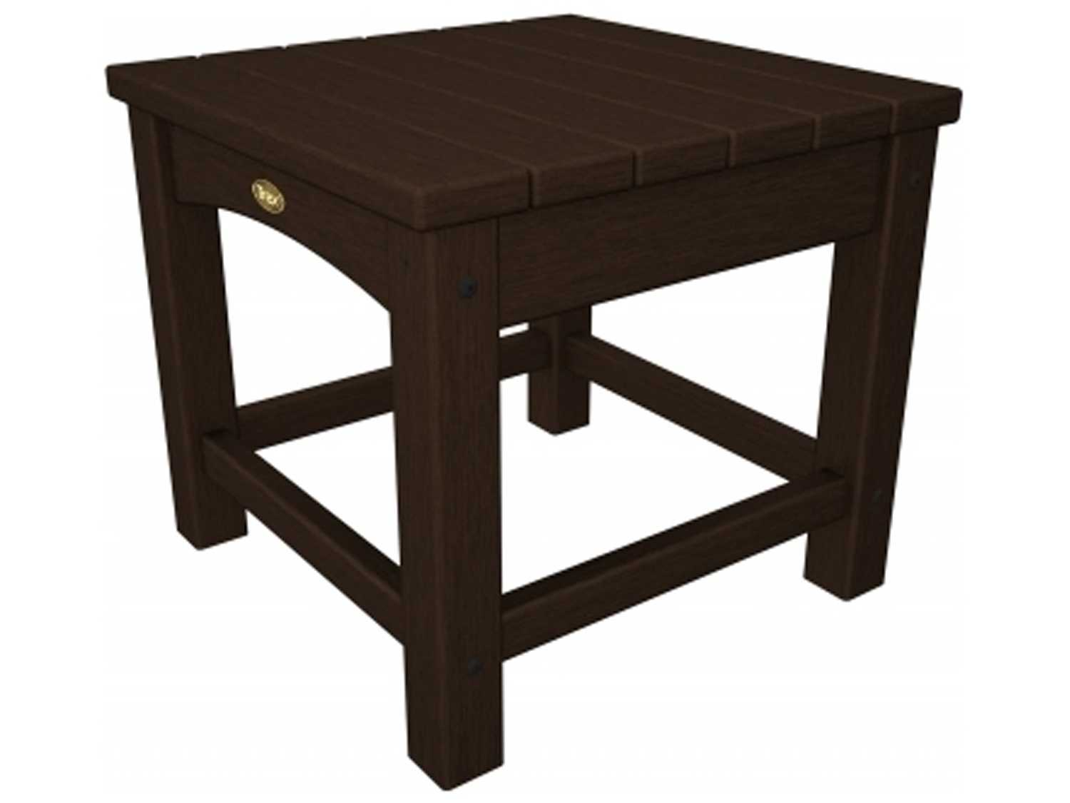 Trex rockport recycled plastic club 18 square side table for Pvc patio table