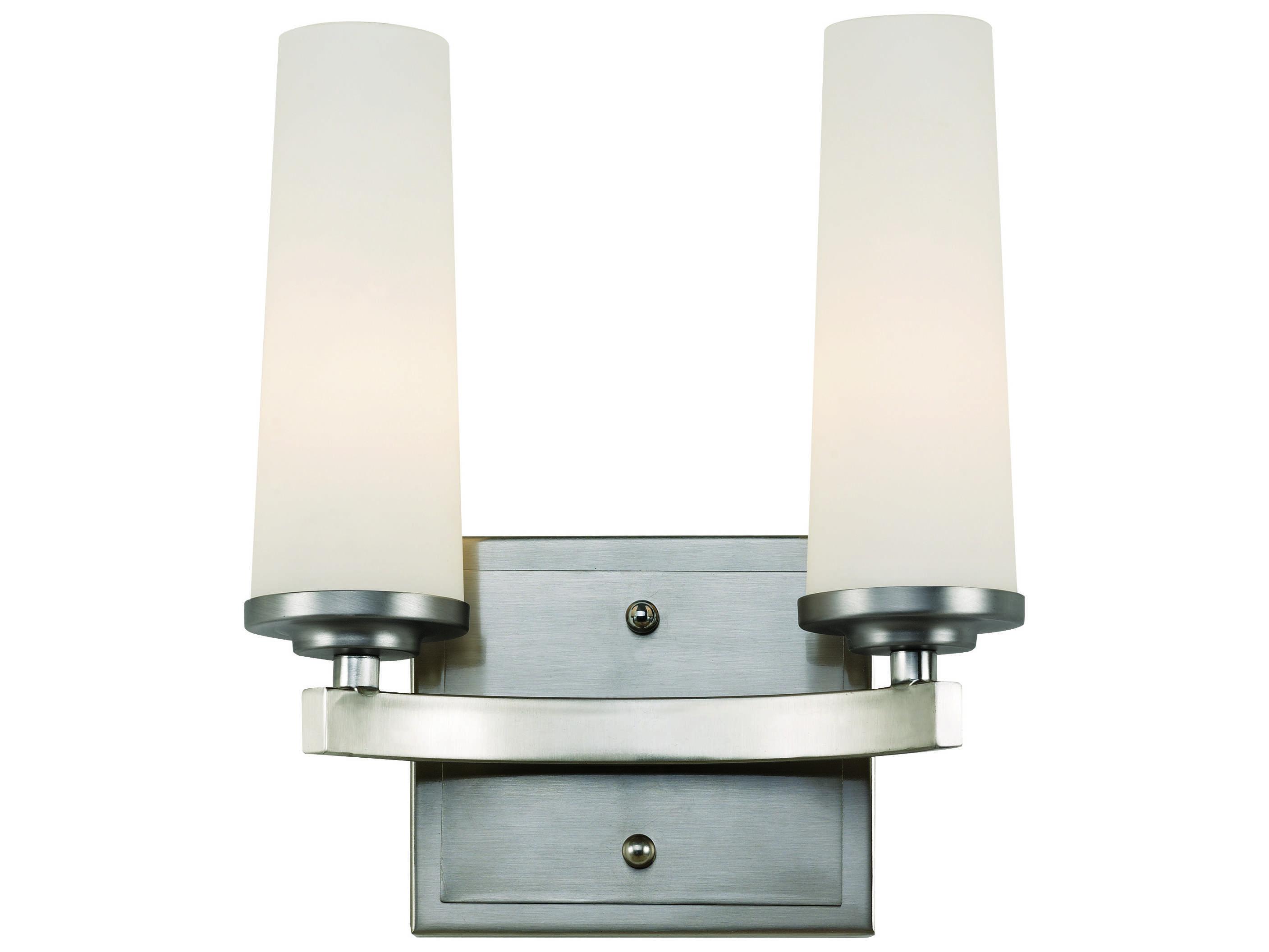 Globes For Vanity Light : Trans Globe Lighting Urban Inspiration Satin Nickel Two-Light Vanity Light 20242-SN
