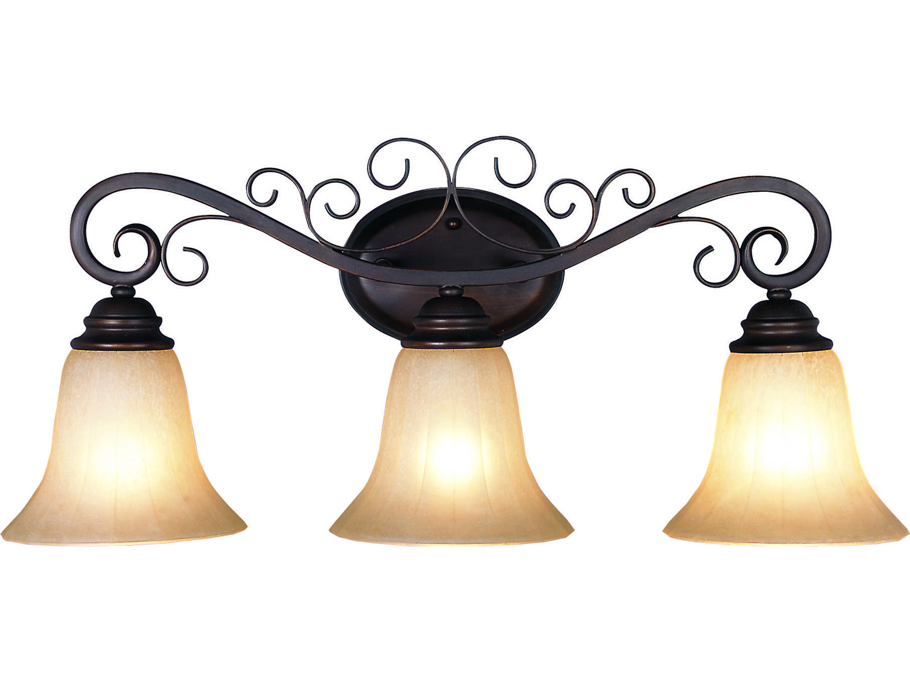 Trans Globe Lighting French Country Oil Rubbed Bronze Three-Light Vanity Light 21043-ROB
