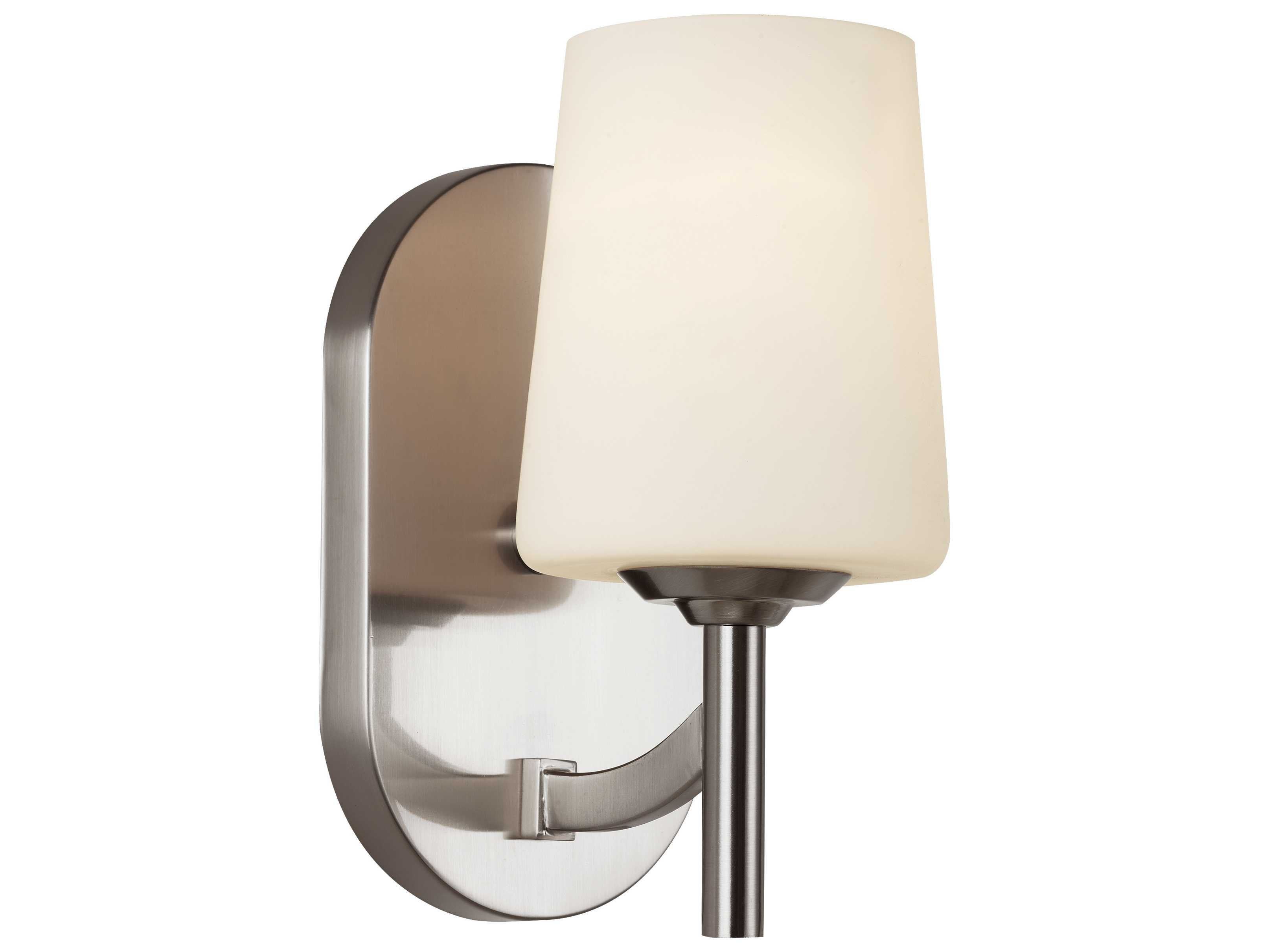 Wall Sconces Mid Century : Trans Globe Lighting Mid-Century Brushed Nickel Wall Sconce 70351-BN