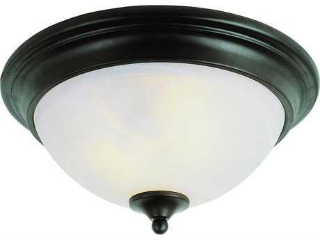 Trans Globe Lighting New Victorian Oil Rubbed Bronze Two-Light Flush Mount Light