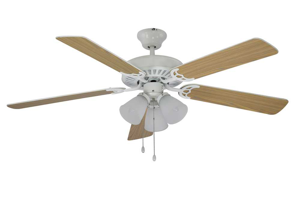 Trans globe lighting new victorian white three light 52 wide indoor ceiling fan f 1005 wh - Victorian ceiling fans with lights ...